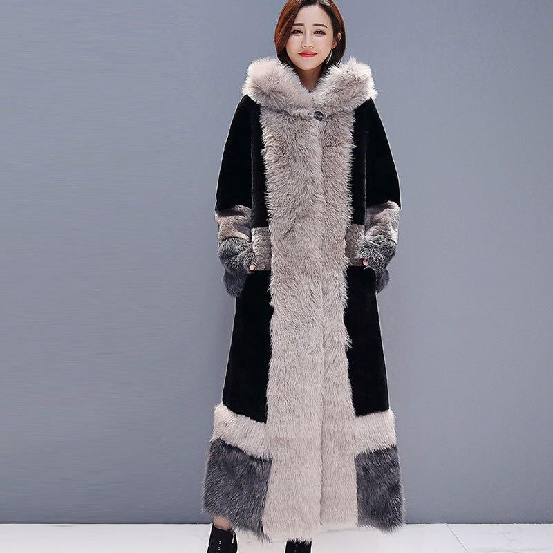 Casual Winter Coat Women 2019 Fashion Long Sleeve Jacket Coat Warm Loose Thick Lengthen Faux Fur