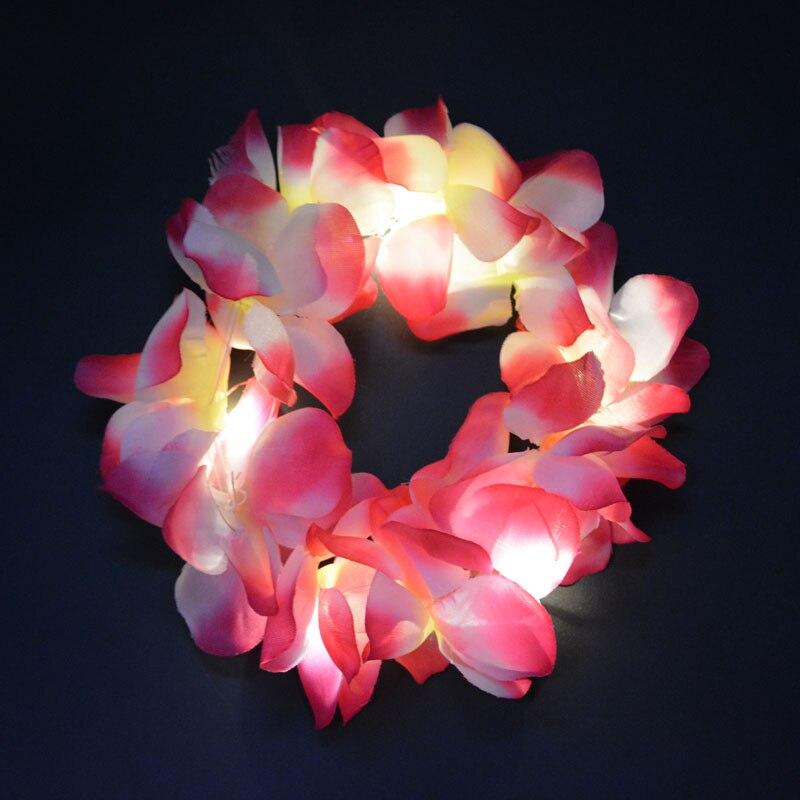 2018 woman girl kids led light blinking hawai flower hula lei