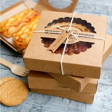 New Arrival 16.5*16.5*4cm 10 Pcs Kraft Paper Box For Pie Pizza Cheese Use Party Decoration Holiday Birthday Storage Boxes