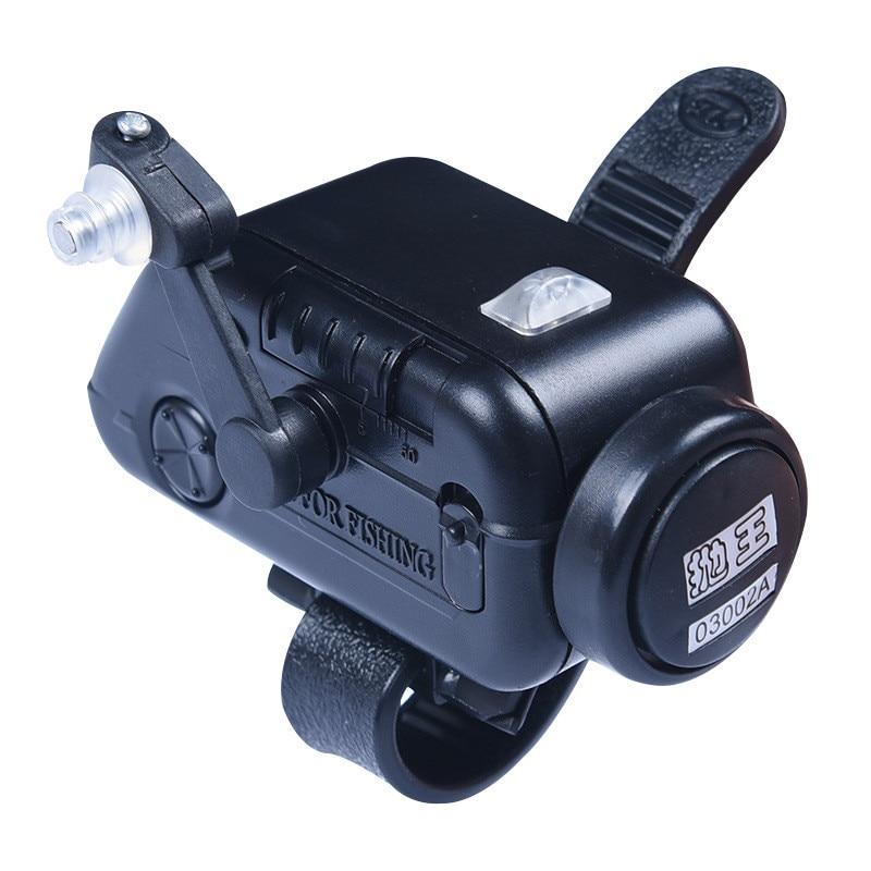 50g Black Electronic Bite Fish Alarm Bell Fishing Rod Pole LED Light Fishing Alarm Indicator