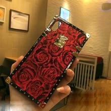 rose silicone case for xiaomi mi 9 redmi 7 note cover fashion flower Anti-knock shockproof soft phone bag capa fundas