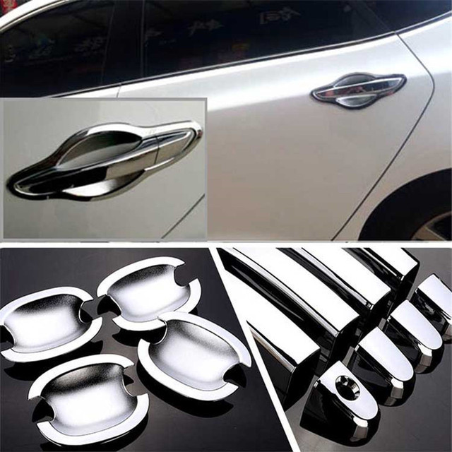 $ 20.99 Non-Rusty Chrome Door Handle Bowl Cover Cup Overlay Trim For Hyundai Mistra