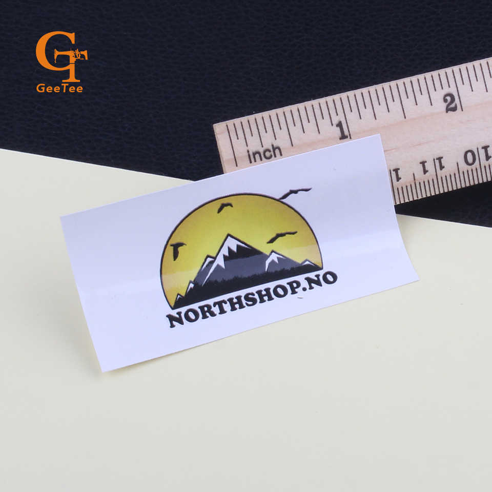 Custom shape logo brand name paper self adhesive stickersdie cut vinyl stickers
