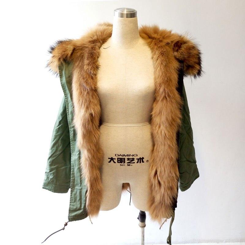Grand Capot Laveur Raton Renard Cheveux Longs Femmes D'hiver Naturel Mme Fourrure De Nouveau Veste Style xBrWCedo