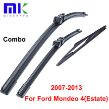 Silicone Rubber Front And Rear Wiper Blades For Ford Mondeo 4(Estate) 2007-2013 Windscreen Windhsield Wipers Car Accessories