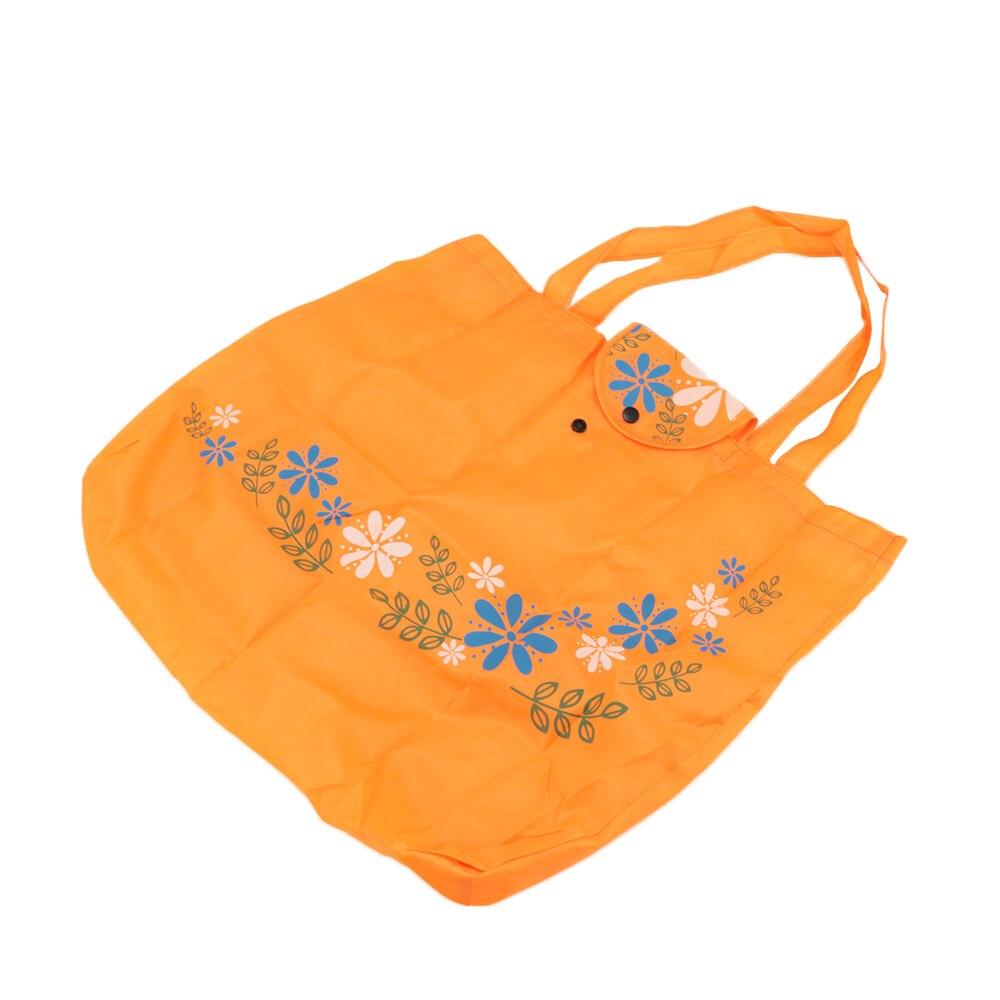 1 Pc Blume Gedruckt Handtasche Oxford Tuch Faltbare Folding Einkaufstasche Umwelt Mehrweg Tasche Zufällige Farbe