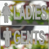 2 Pieces Of LADIES GENTS Sign Toilet Door Stickers Acrylic 3D Mirrors Wall Sticker For Bathroom