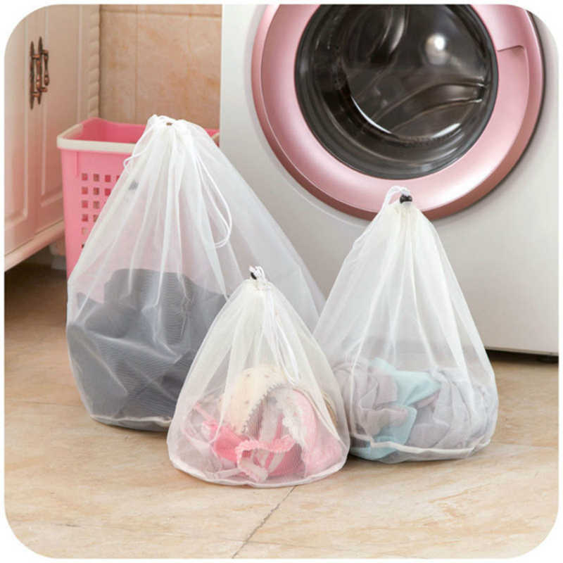 Laundry Wash Bags Thicken Mesh Foldable Delicates Lingerie Bra Socks Underwear Washing Machine Clothes Protection Household Tool