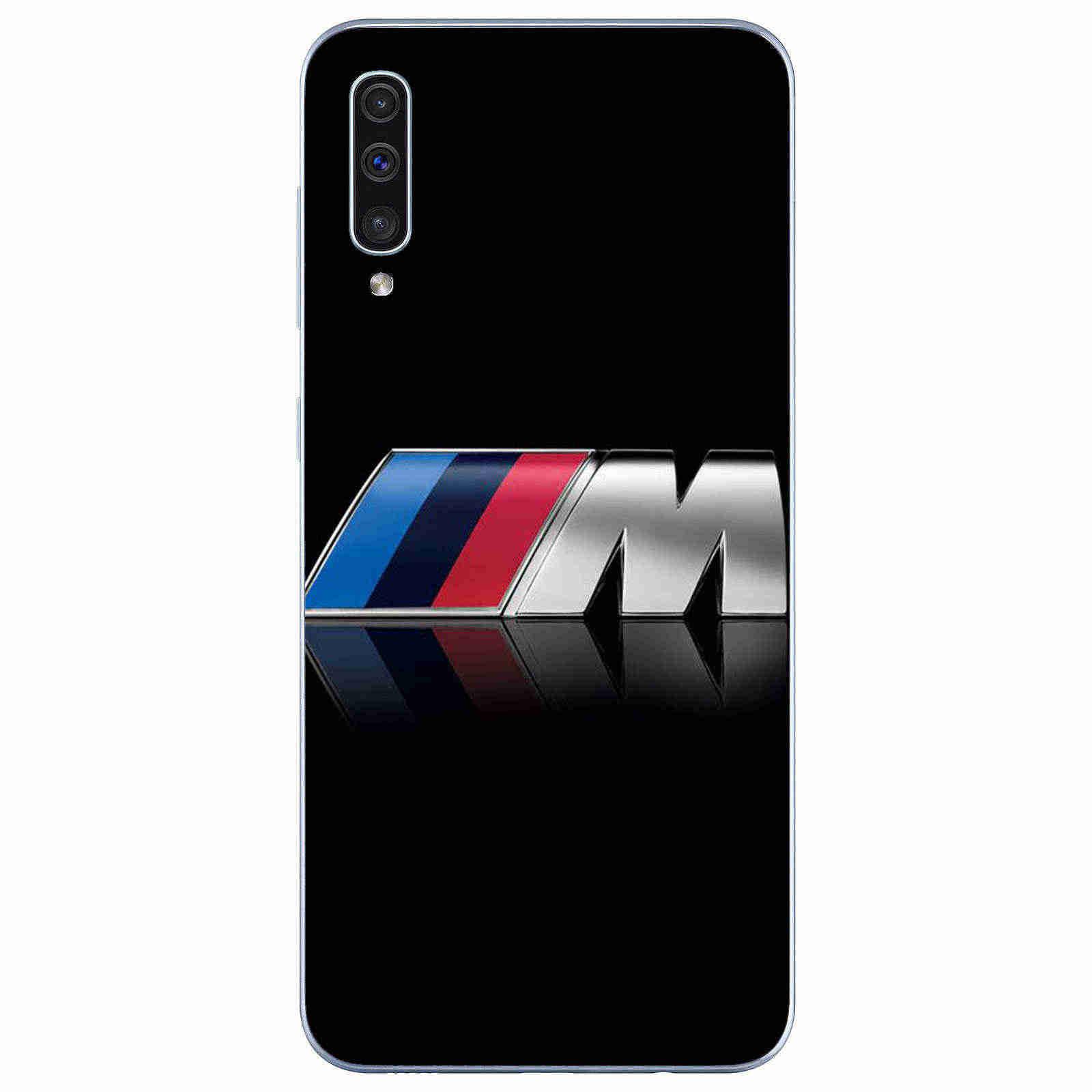 Marca esportiva de luxo BMW macio TPU tampa do telefone Para samsung galaxy J5 J6 J7 J8 A5 A7 2016 2017 A6 a82018Plus A750