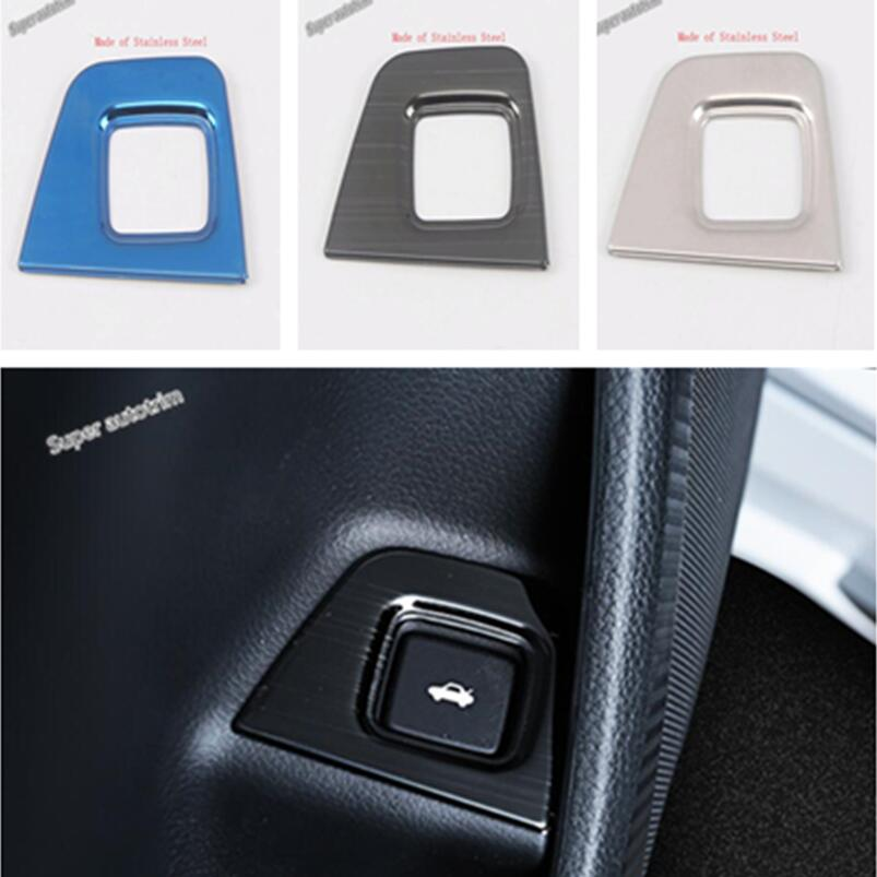 Lapetus Rear Trunk Cover Tailgate Door Button Switch Frame Trim Fit For <font><b>Honda</b></font> <font><b>Accord</b></font> 10th <font><b>2018</b></font> 2019 <font><b>Accessories</b></font> Interior 3 Color image