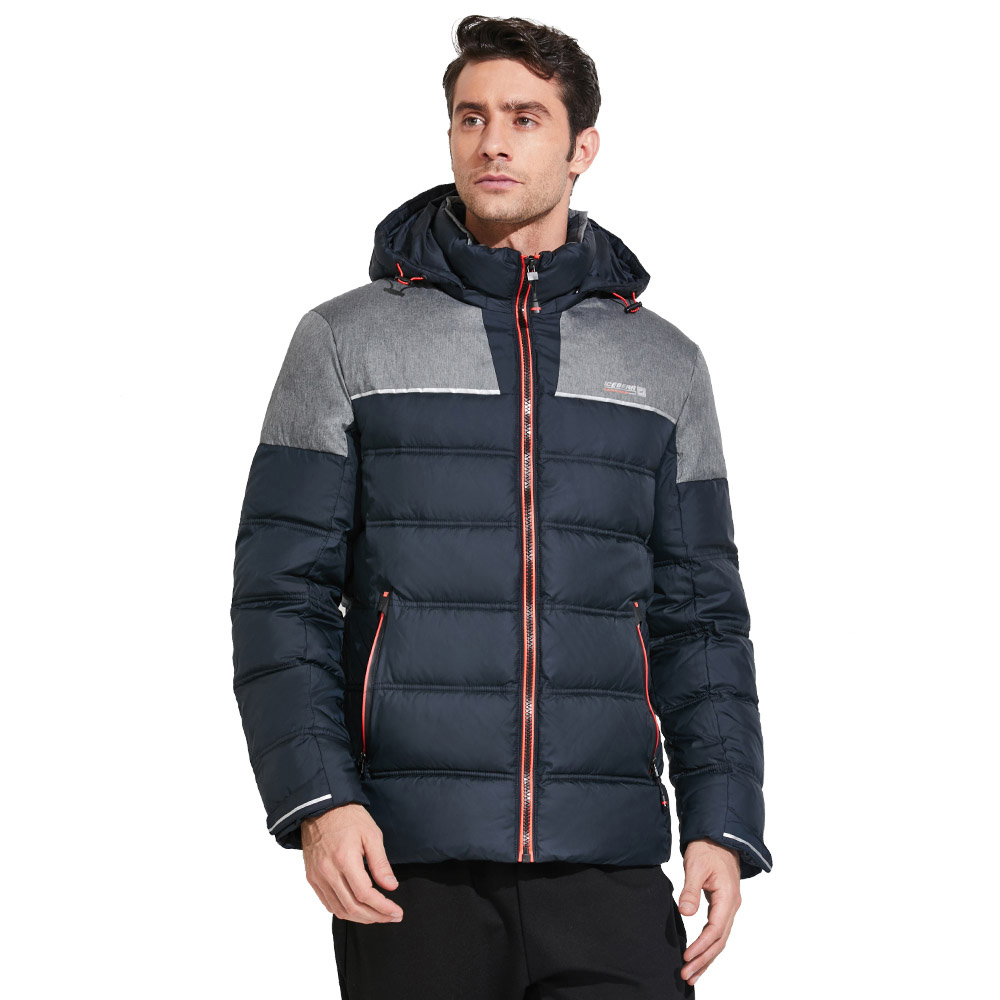 ICEbear 2017 Winter men's windproof jacket with a hood warm branded down jacket with a combination of several colors 17MD921 icebear 2018 short women parkas cotton padded jacket new fashion women s windproof thin cotton jacket warm jacket 16g6117d