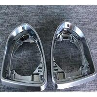 2 Pcs For Volkswagen Golf 7 7.5 Lamando CC Magotan Sagitar Passat Audi A4 A5 Reversing Rearview Mirror Shell frame silver Rim