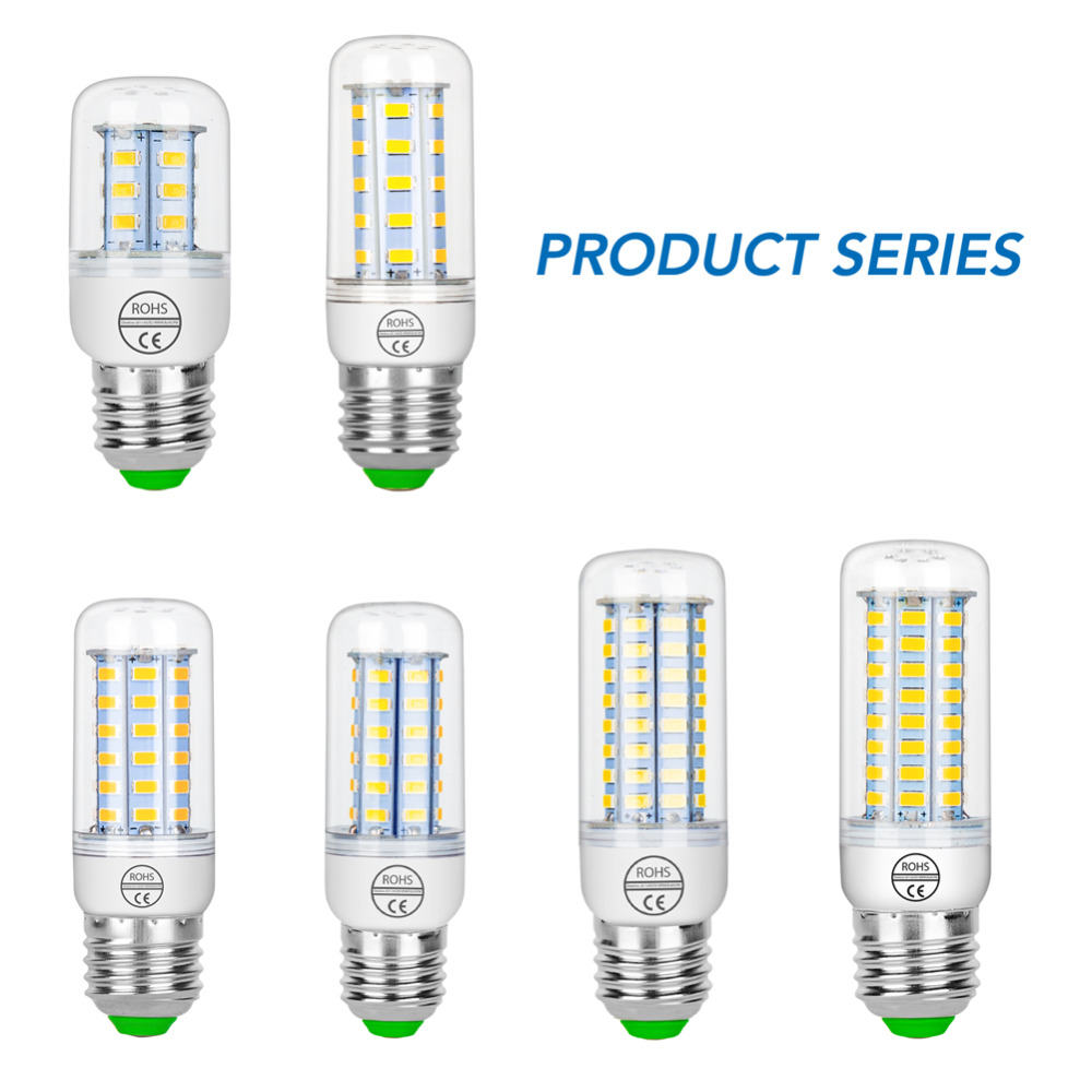 Led GU10 220V Led Candle Bulb E27 Ampoule Led E14 Corn Light Bulb 5W 7W 9W 12W 15W 20W Chandelier Lamp SMD5730 Indoor Decoration
