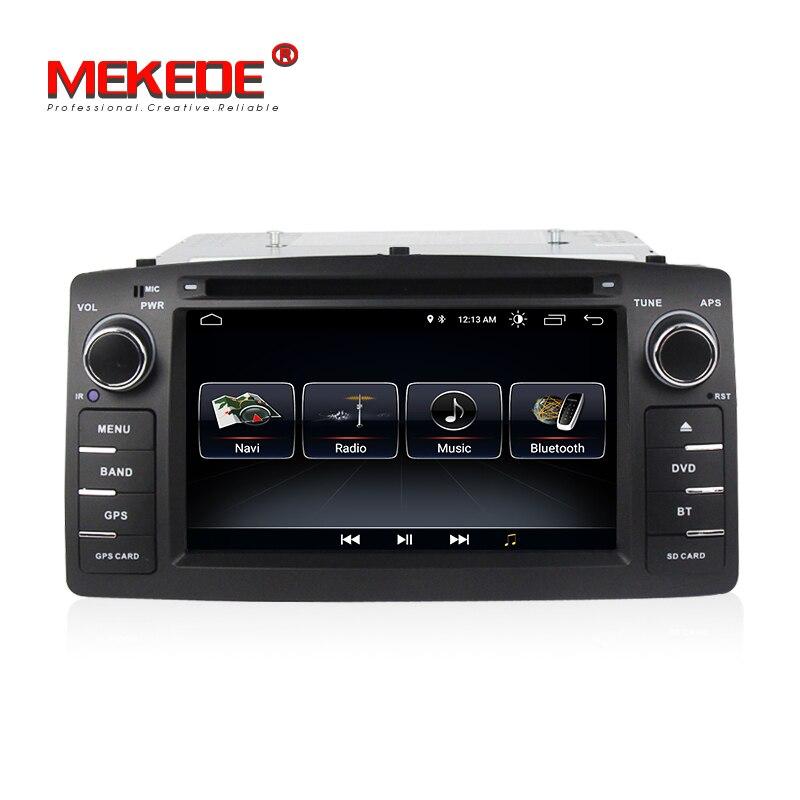TDA7851 Android 8,0 Автомобиль Радио Стерео DVD плеер для toyota corolla E12 BYD F3 с WI-FI BT gps навигации бесплатная доставка