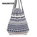 MAKORSTER verão Japão e Estilo Coreano mochila bolsa de praia saco de cordão Lona kawaii mulheres mochilas para mochilas meninas DJ0112