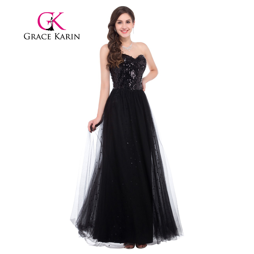 Black Gold Ball Gown Prom Dresses