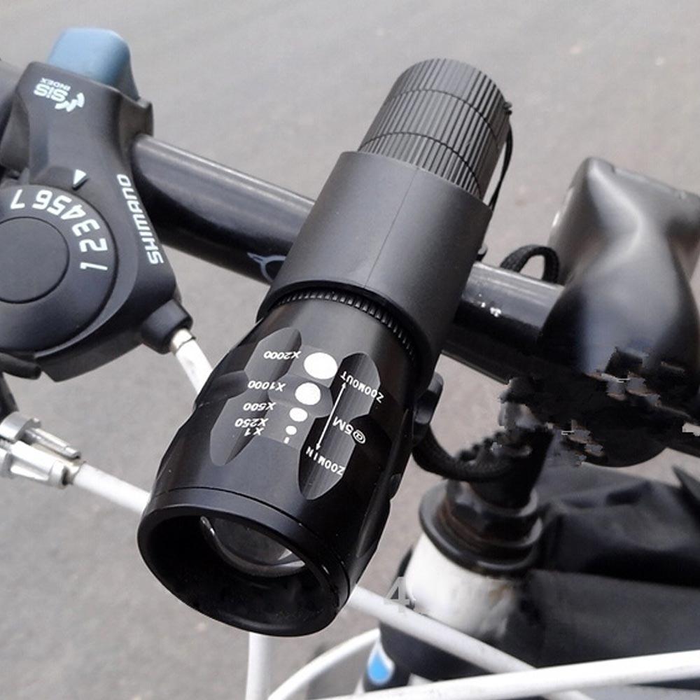 Велосипедные фары <font><b>LED</b></font> <font><b>2500</b></font> люмен 3 Режим Q5 велосипед спереди Водонепроницаемый лампа + держатель
