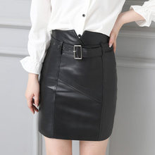2019 Women Slim Genuine Sheep Leather Skirt P18