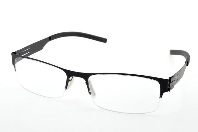 NEW STYLE Semi Quadro Sem Solda Conjunta Sem Parafuso Ultra Quadro de luz Custom Made Prescrição Óptica Óculos De Miopia-1 A-6