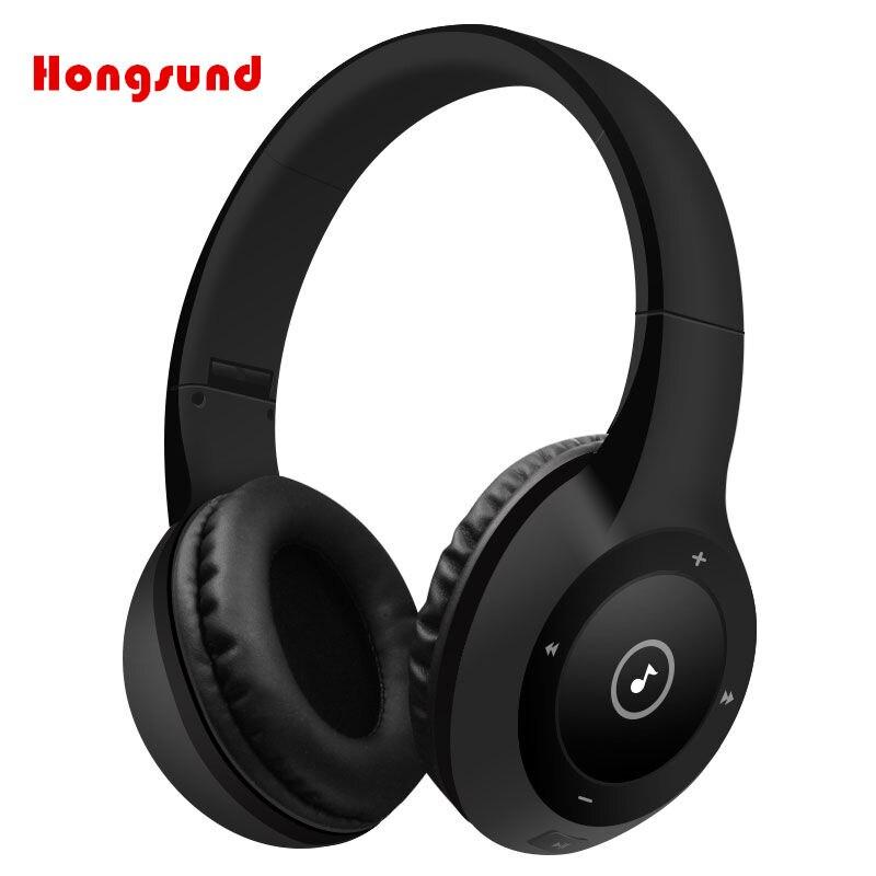 Hongsund wireless Bluetooth Headphone Bluetooth4.0 Built-in Mic Soft Earmuffs Noise Cancelling 3.5mm audio jack Stereo Sound hea