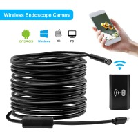 HiSecu 1m 3m 5m Wifi Endoscope Camera Android 720P Iphone Borescope Waterproof Camera Endoscopic Android IOS