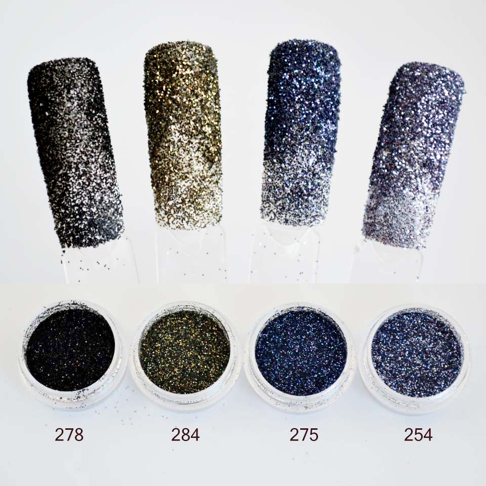 24 Color Sequins Sand for Nail Glitter Powder Nailart Glitter for ...