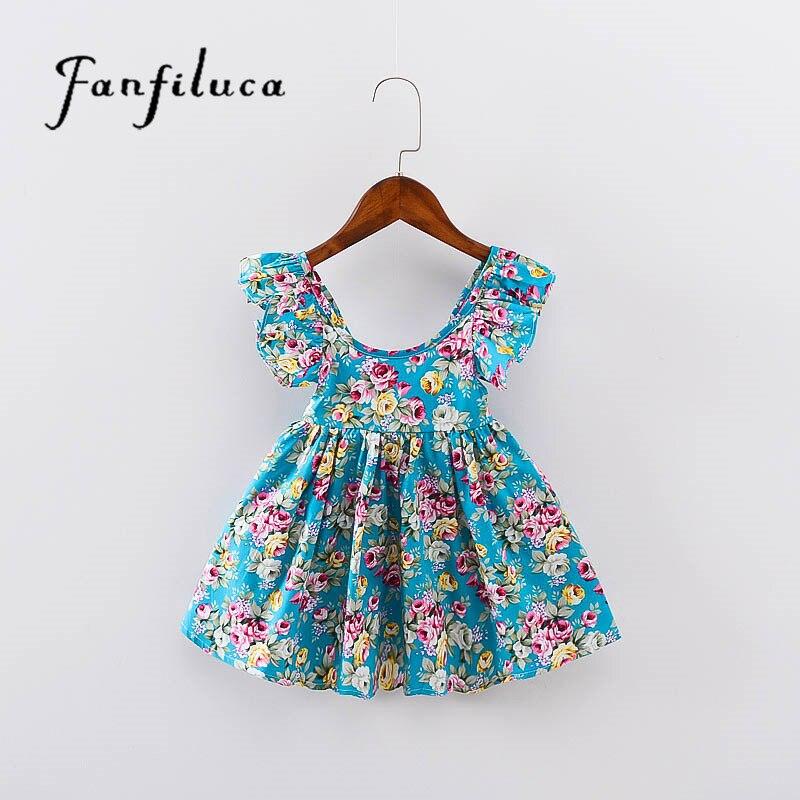 Fanfiluca Niños Vestidos Para Niñas Muchachas de La Manera Vestidos de Estilo Bo