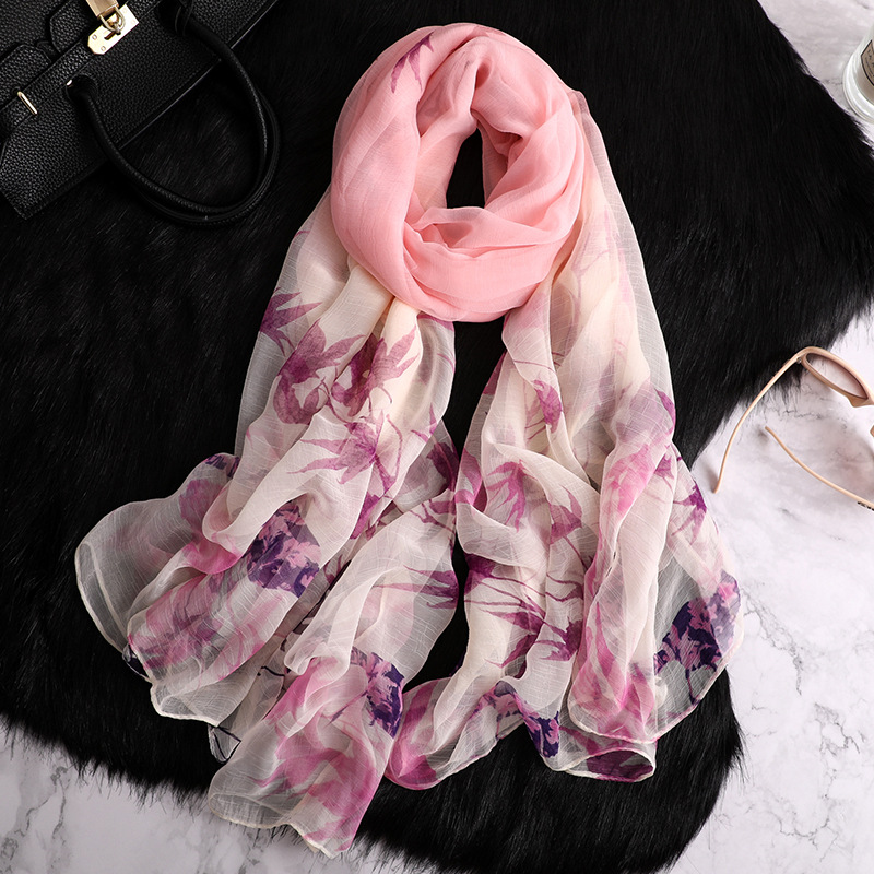 2019 designer brand women scarf fashion print silk scarves large size summer shawls and wraps for women pashmina lady hijabs in Women 39 s Scarves from Apparel Accessories