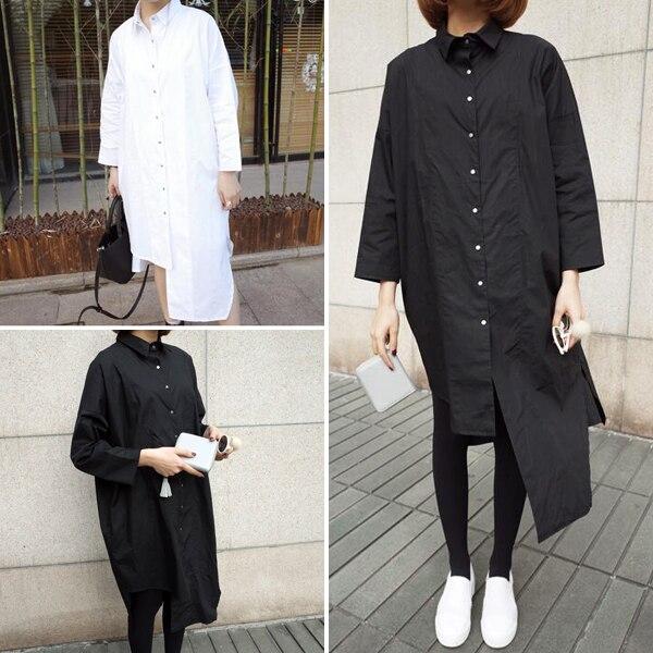 92e300ec68c Aliexpress.com   Buy Women's Black plus size oversized shirts women  asymmetric shirt long casual loose blouse batwing sleeve womens boyfriend  shirts from ...
