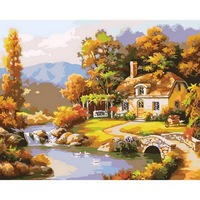 1pcs DIY Oil Painting By Numbers Frameless Pictures Digital Canvas Oil Painting Home Decor