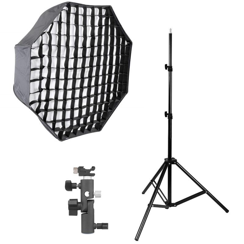 Photography Studio Softbox kits 80cm/31.5 Octagon Umbrella Softbox Diffuser Reflector+Gird+200CMLight Stand+Flash Shoe HolderPhotography Studio Softbox kits 80cm/31.5 Octagon Umbrella Softbox Diffuser Reflector+Gird+200CMLight Stand+Flash Shoe Holder