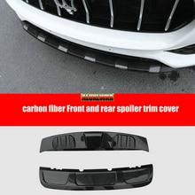 Black Front + Rear Carbon Fiber Bumper Boards Protection Guard Cover Trims For Maserati Levante 2016 2017 car Accessories 2PCS