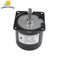 CHANCS 60KTYZ Synchronous AC Motor 220V 1.2RPM 2.5RPM 5RPM 20RPM 30RPM 50RPM CW/CCW 14W for Machinery Spin