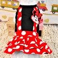 Горячая Распродажа платьев для домашних животных, милые платья в красный горошек с изображением Микки Мауса, платья для собак, размеры XXS-L, костюмы для йоркширского пуделя на весну и лето - фото
