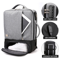 Anti Theft Backpack Laptop Bag Men Women 15.6 Inch Notebook Business Backpacks Bags Male Men's USB Charge Travel Large Bagpack