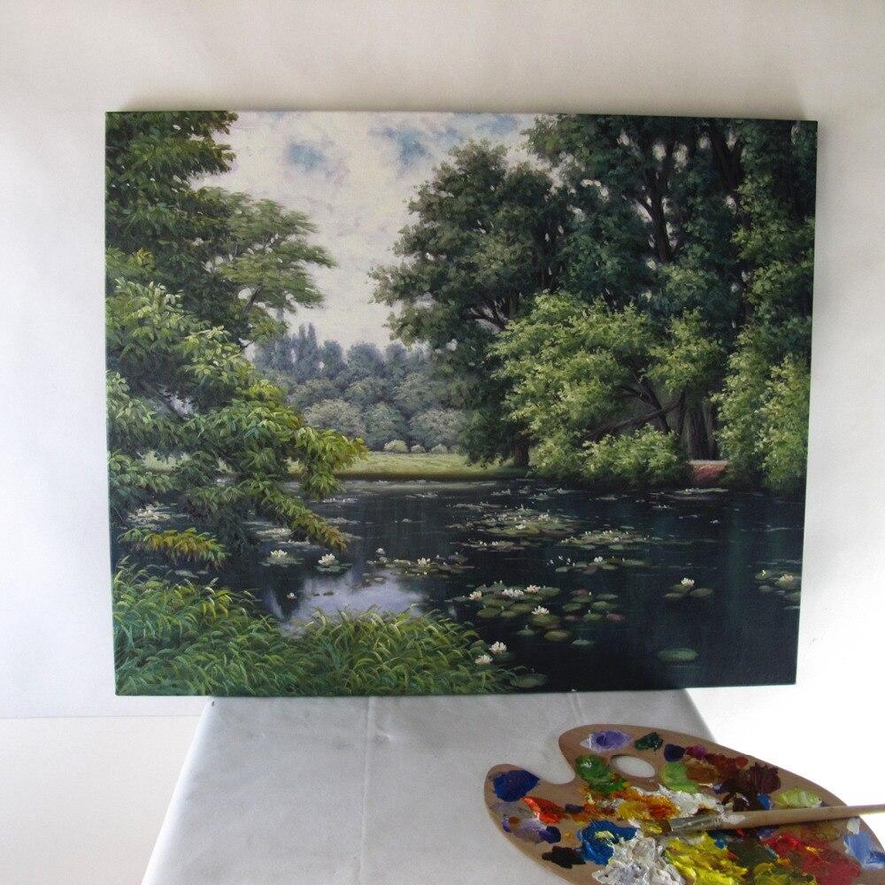 Ручная роспись холст картины для офисного помещения декоративная Масляная картина пейзаж Фреска фотографии для друзей - 3