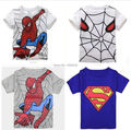 New 2017 boy's t shirt Spiderman cotton short-sleeved t-shirt printing children's cartoon gray kids boys child's clothes