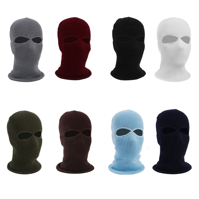 2/3 Hole Full Face Cap Outdoor Balaclava Riding Motorcycle Mask Knitting Face Mask Ski Mountaineering Head Cover 4