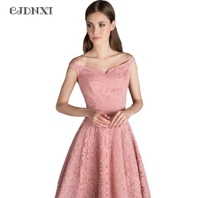 f8e8724267d CJDNXI Women Sexy Pink Lace Dress Summer Party Bodycon Dresses Plus Size  Strapless Sleeveless Patchwork Midi Vestidos De Renda