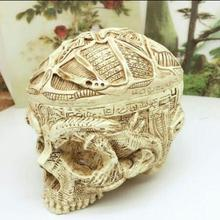 Fashion skeleton carved ashtray storage tank flower head mannequin pot accessories teaching model Halloween Christmas Gifts A543