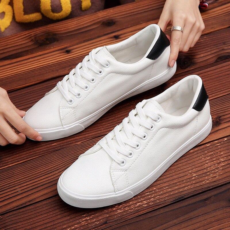 2019 Hot Men Shoes White Sneakers Men Casual Shoes Comfort Walking Shoes Lace Up Men Sneakers Fashion Footwear Men 39 S Shoes