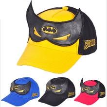 2016 new baseball cap children Snapback letter BATMAN flat along Hip hop style summer hat Swag past kings for girl and boy