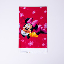 1pcs Cartoon Minnie Party Supplies Tablecloth Birthday Decoration Mariage Baby Shower happy Supplier Wedding Christmas