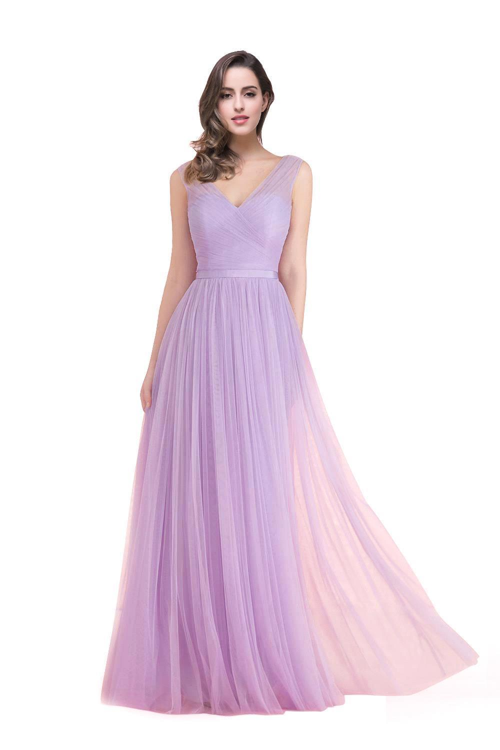 Wedding Lilac Dress compare prices on lilac dress online shoppingbuy low price in stock cheap crepe pleat girls junior camo bridesmaid dresses 2017 a line floor length