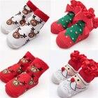 Kids Boy Girl Christmas Baby Socks Hot Sale Newborn Baby Santa Claus Socks 2017 New Arrival Fashion High Quality Xmas Gift Sock