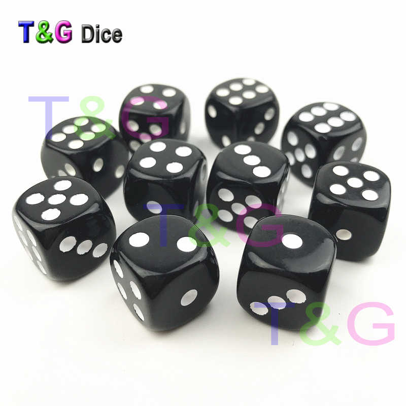 10pcs Set T G 16mm Rounded Corner Playing Standard Dice 6 Sided for  Birthday Party As 5b3a53fd4bd8