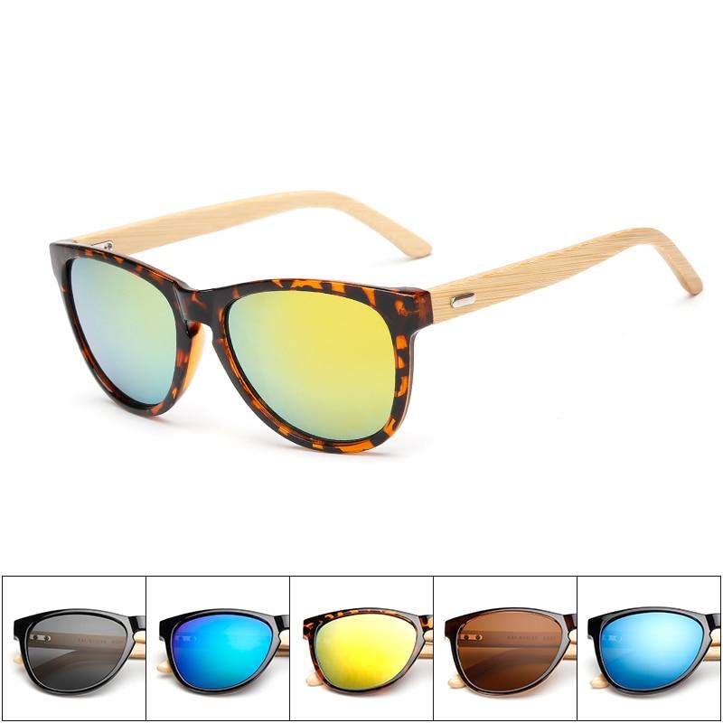 7d4a691bac Nuevo regalo personalizado Nombre de logotipo Retro rectángulo espejo gafas  de sol de las mujeres de bambú ecológico hecho a mano armas gafas de sol  hombres ...