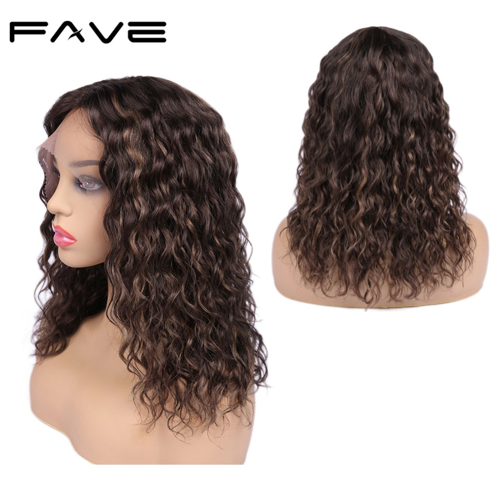 Human Hair Wigs Brazilian Remy Natural Wave Lace Front Wigs Pre Plucked Color F4 30 Adjustable