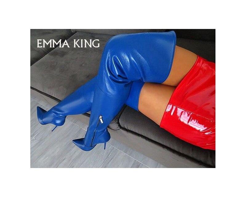 Qualit Pu Hohe tberlegene Knie Bild Ferse Frauen Solide Charme Mujer Luxus Der Mode Als Bildals Sexy Damen Stiefel Auf Botas Neue nPZNwk8X0O