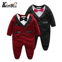 Kimocat Newborn Baby Casual Romper Gentleman wedding Long Sleeve Climb Clothes Sets Baby Clothing for Boys